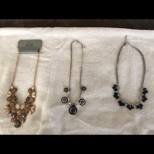 Jewelry - THREE statement necklaces for $15.00!